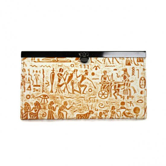 Coach Egyptian Wall Painting Large Khaki Wallets EDY