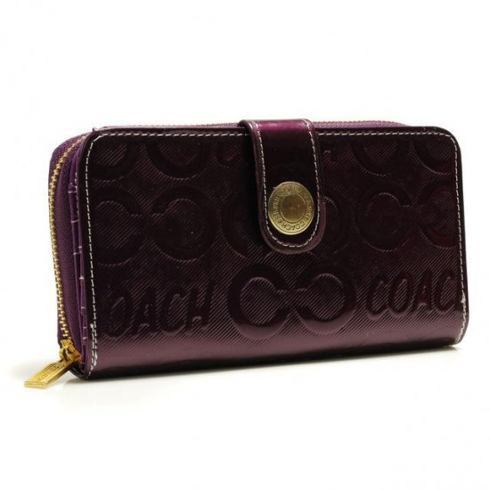 Coach Logo Large Purple Wallets BCQ