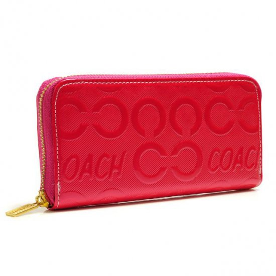 Coach Logo Large Red Wallets BCT