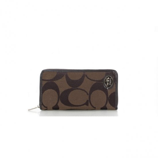 Coach Big Logo Signature Small Coffee Wallets FEU