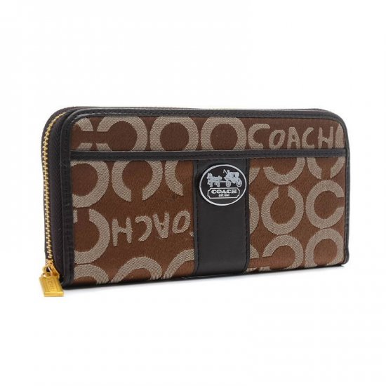 Coach Legacy In Signature Large Brown Wallets BVS