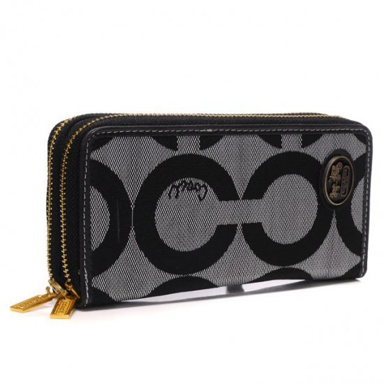 Coach Big Logo Large Grey Wallets AXX