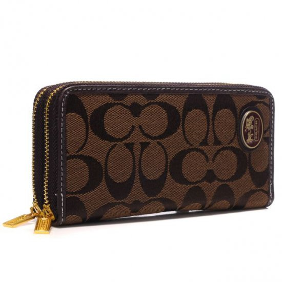Coach Logo Large Coffee Wallets AXZ