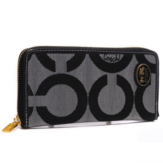 Coach Big Logo Large Grey Wallets ARJ