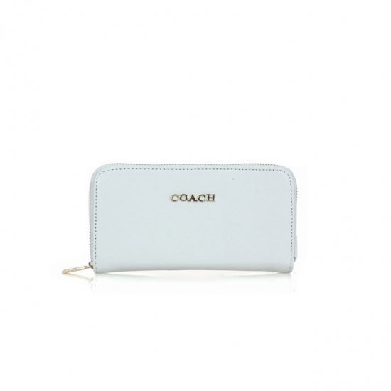 Coach Zip In Saffiano Small White Wallets FFI