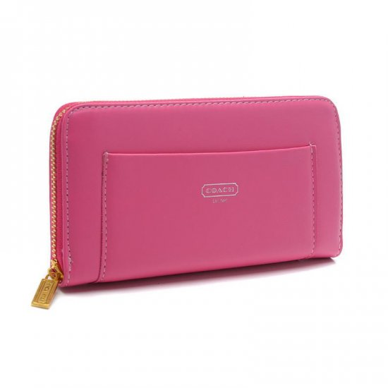 Coach Madison Accordion Saffiano Large Pink Wallets EGE