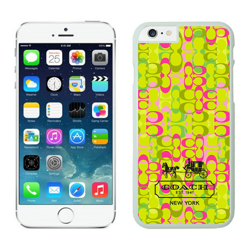 Coach In Confetti Signature Green iPhone 6 Cases EYK