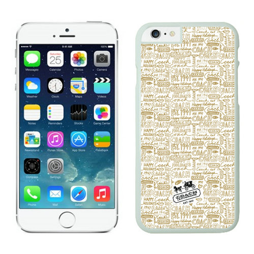 Coach Fashion Logo Khaki iPhone 6 Cases EYM