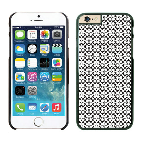 Coach In Confetti Signature Black iPhone 6 Cases EYP