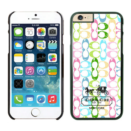 Coach Logo Monogram Multicolor iPhone 6 Cases EYV