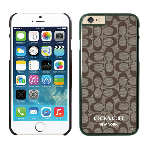 Coach Logo Signature Beige iPhone 6 Cases EYX