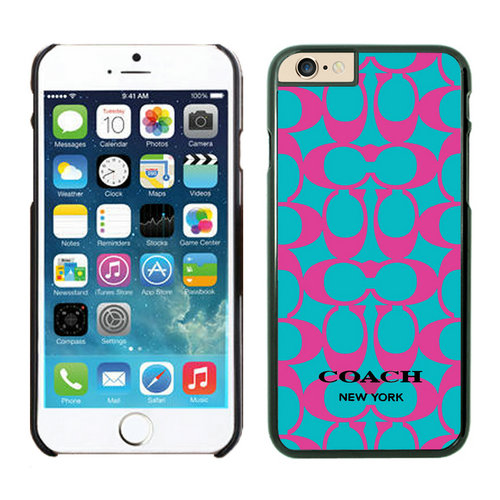 Coach Big Logo Fuchsia Blue iPhone 6 Cases EZF