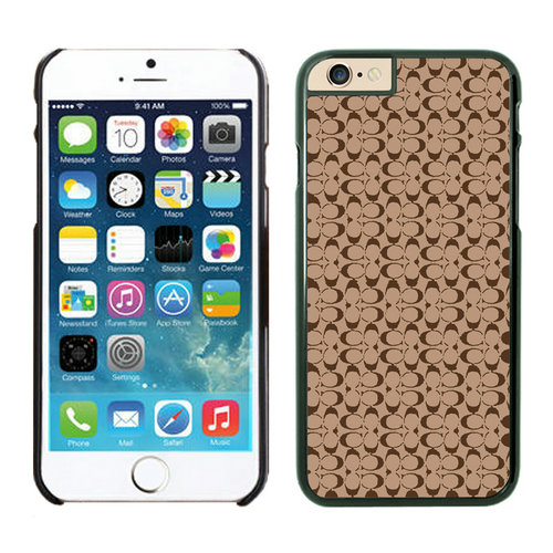 Coach Logo In Signature Camel iPhone 6 Cases EZL