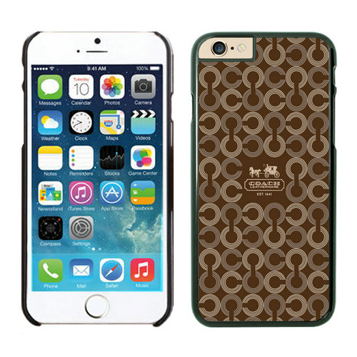 Coach Logo Monogram Brown iPhone 6 Cases EZN