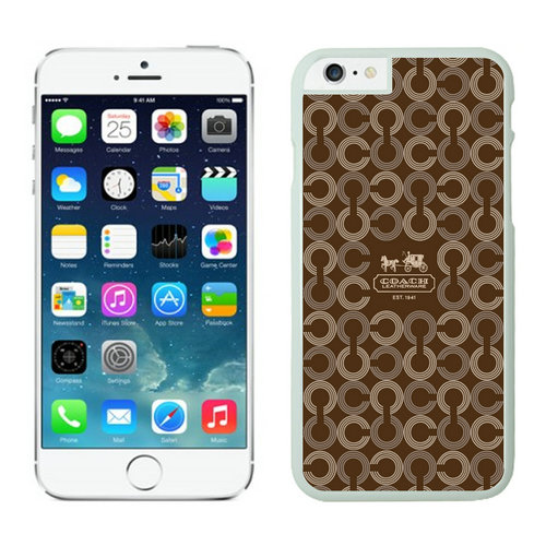 Coach Logo Monogram Brown iPhone 6 Cases EZO