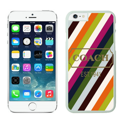 Coach Stripe Multicolor iPhone 6 Cases EZQ