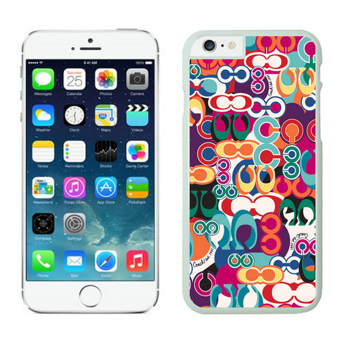 Coach Fashion Monogram Multicolor iPhone 6 Cases EZW