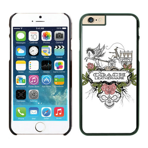 Coach Carriage Logo White iPhone 6 Cases EZX