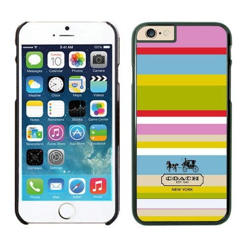 Coach Stripe Multicolor iPhone 6 Cases FAH