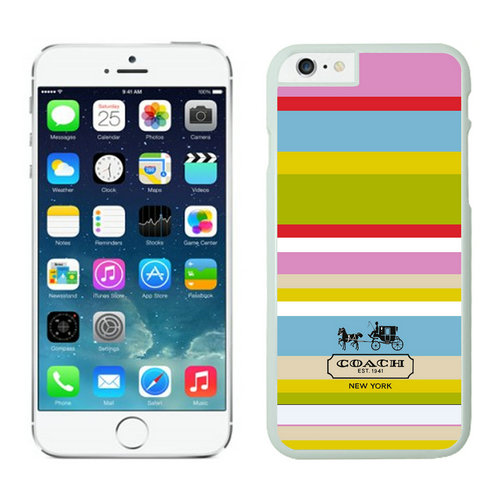 Coach Stripe Multicolor iPhone 6 Cases FAI