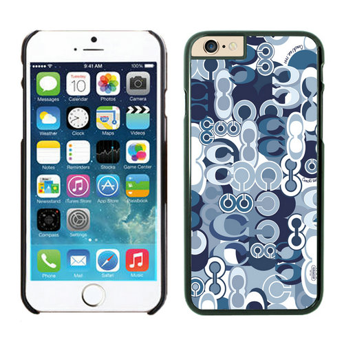 Coach Fashion C Blue iPhone 6 Cases FAP