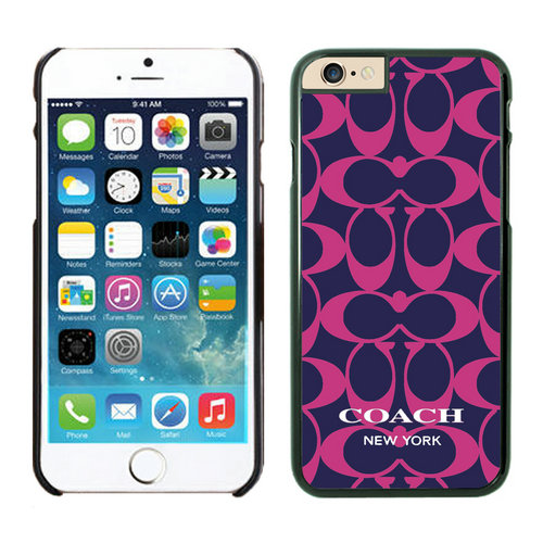 Coach Big Logo Fuchsia Navy iPhone 6 Cases FAX