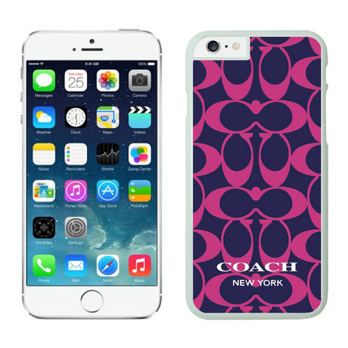 Coach Big Logo Fuchsia Navy iPhone 6 Cases FAY