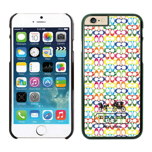 Coach In Confetti Signature Multicolor iPhone 6 Cases FBB