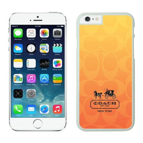 Coach In Signature Orange iPhone 6 Cases FBI