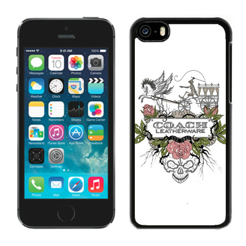 Coach Carriage Logo White iPhone 5C Cases DQV