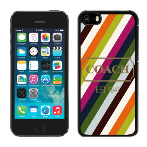 Coach Stripe Multicolor iPhone 5C Cases DQX