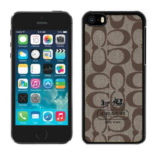 Coach In Signature Beige iPhone 5C Cases DRF