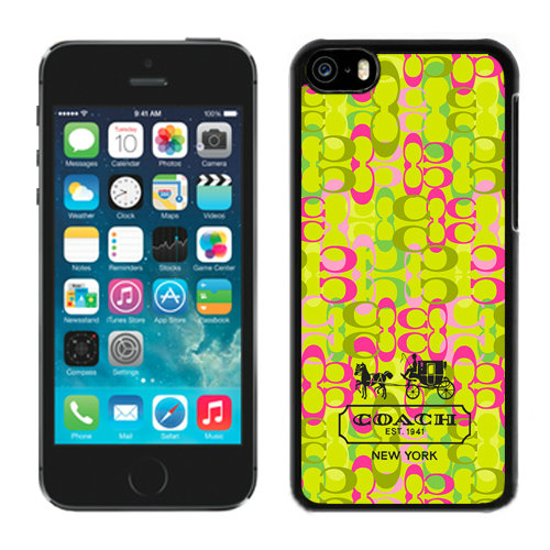 Coach In Confetti Signature Green iPhone 5C Cases DRH