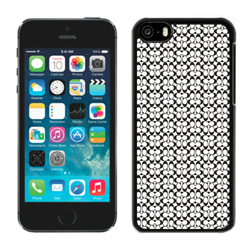 Coach In Confetti Signature Black iPhone 5C Cases DRJ