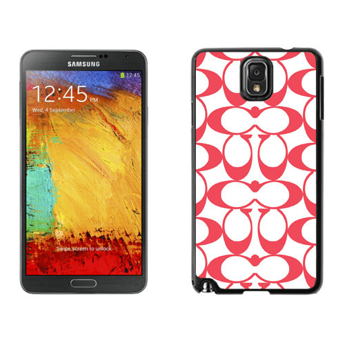 Coach Big Logo Red Samsung Note 3 Cases DRP