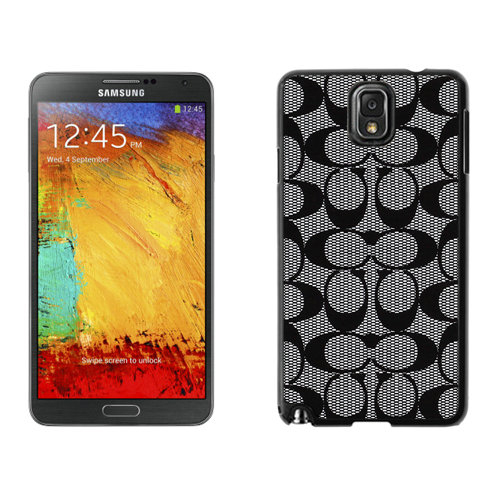 Coach Big Logo Grey Samsung Note 3 Cases DRQ