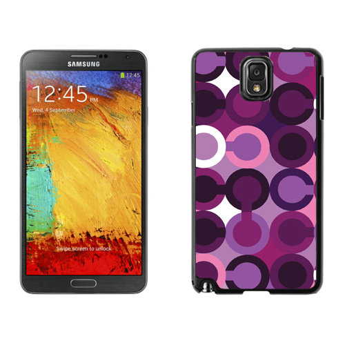 Coach Fashion C Purple Samsung Note 3 Cases DRU