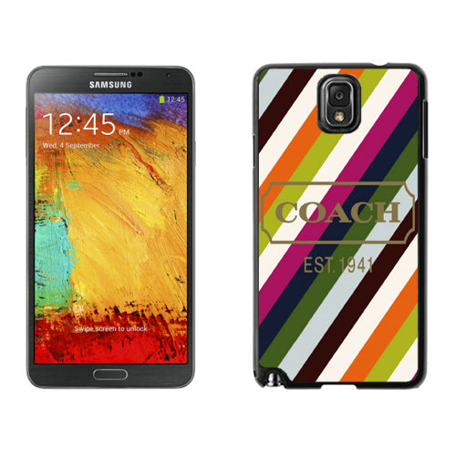 Coach Stripe Multicolor Samsung Note 3 Cases DRY