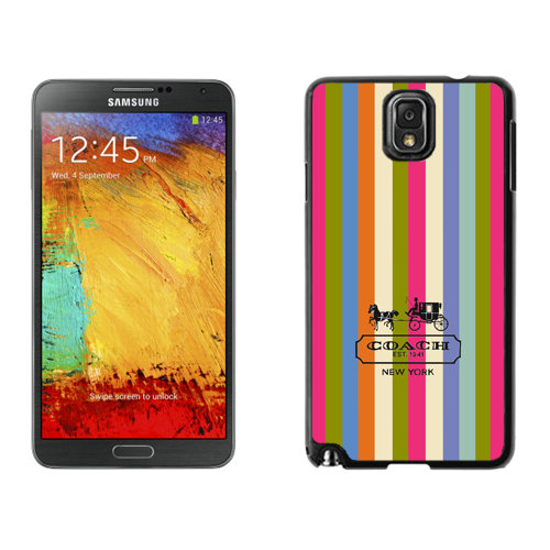 Coach Stripe Multicolor Samsung Note 3 Cases DSE