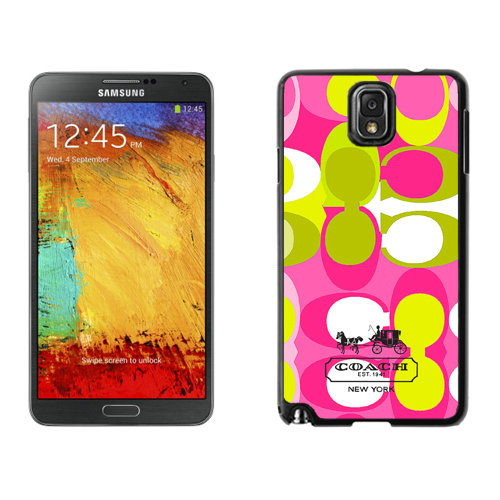 Coach In Signature Multicolor Samsung Note 3 Cases DSH