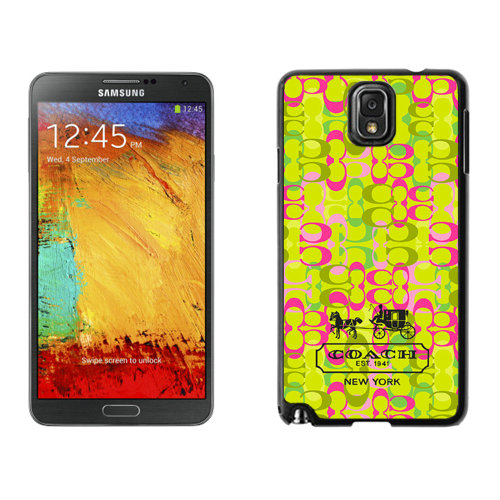 Coach In Confetti Signature Green Samsung Note 3 Cases DSI