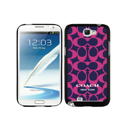 Coach Big Logo Fuchsia Navy Samsung Note 2 Cases DSO