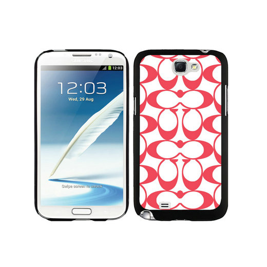 Coach Big Logo Red Samsung Note 2 Cases DSQ
