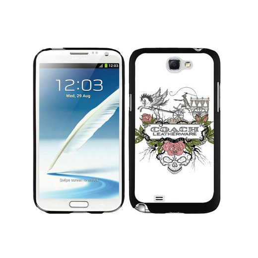 Coach Carriage Logo White Samsung Note 2 Cases DSX