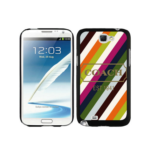 Coach Stripe Multicolor Samsung Note 2 Cases DSZ
