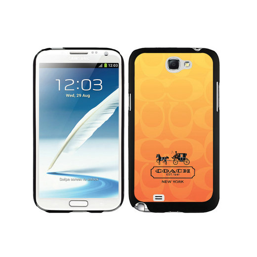 Coach In Signature Orange Samsung Note 2 Cases DTG