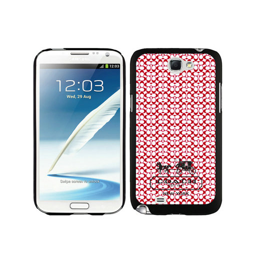 Coach In Confetti Signature Red Samsung Note 2 Cases DTM