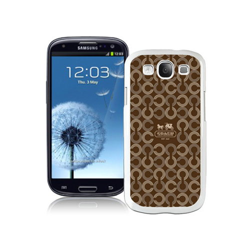 Coach Logo Monogram Brown Samsung Galaxy S3 9300 CAT