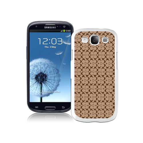 Coach Logo In Signature Camel Samsung Galaxy S3 9300 CAV