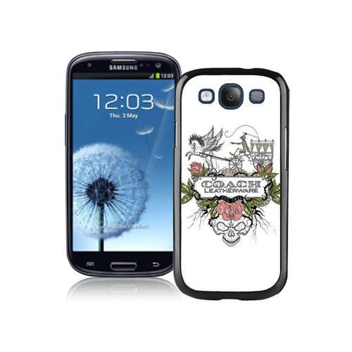 Coach Carriage Logo White Samsung Galaxy S3 9300 CBH